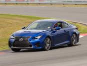 2015 Lexus RC F - blue on track